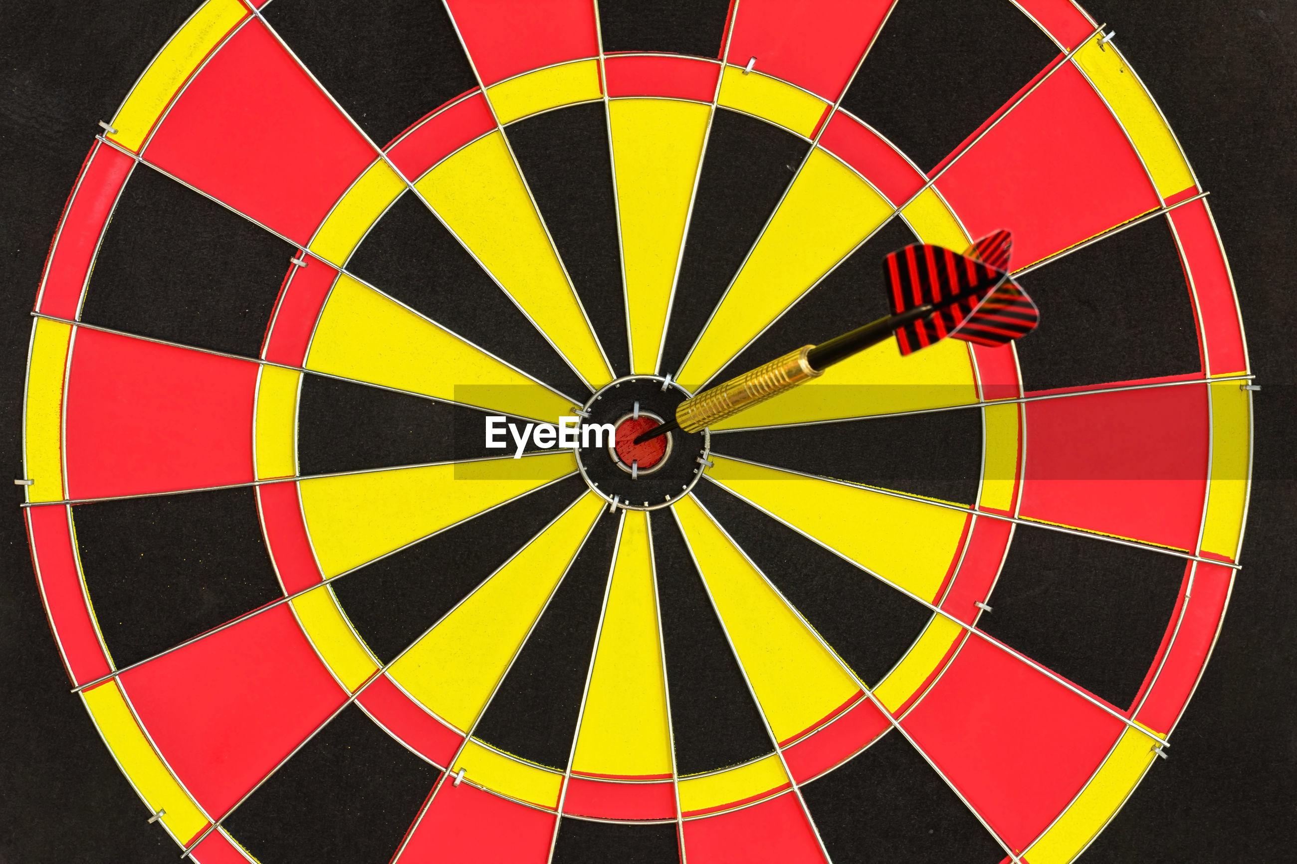 Close-up of arrow on dart