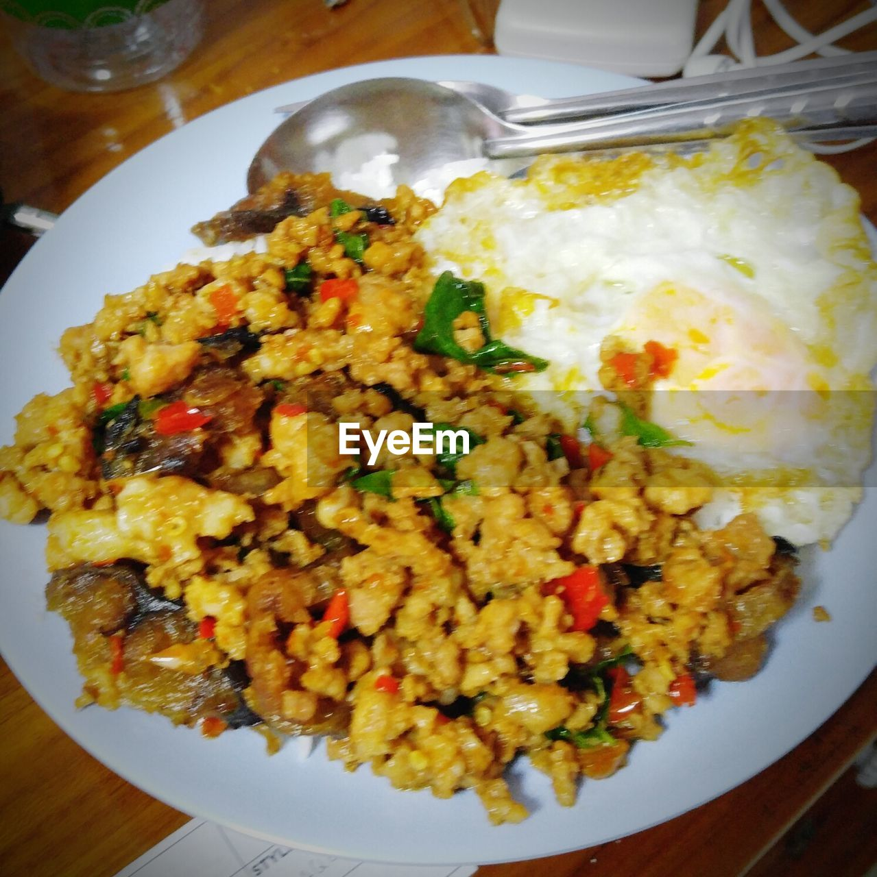 ready-to-eat, food, food and drink, plate, freshness, serving size, egg, table, indoors, healthy eating, high angle view, no people, close-up, indulgence, fried egg, fried rice, day