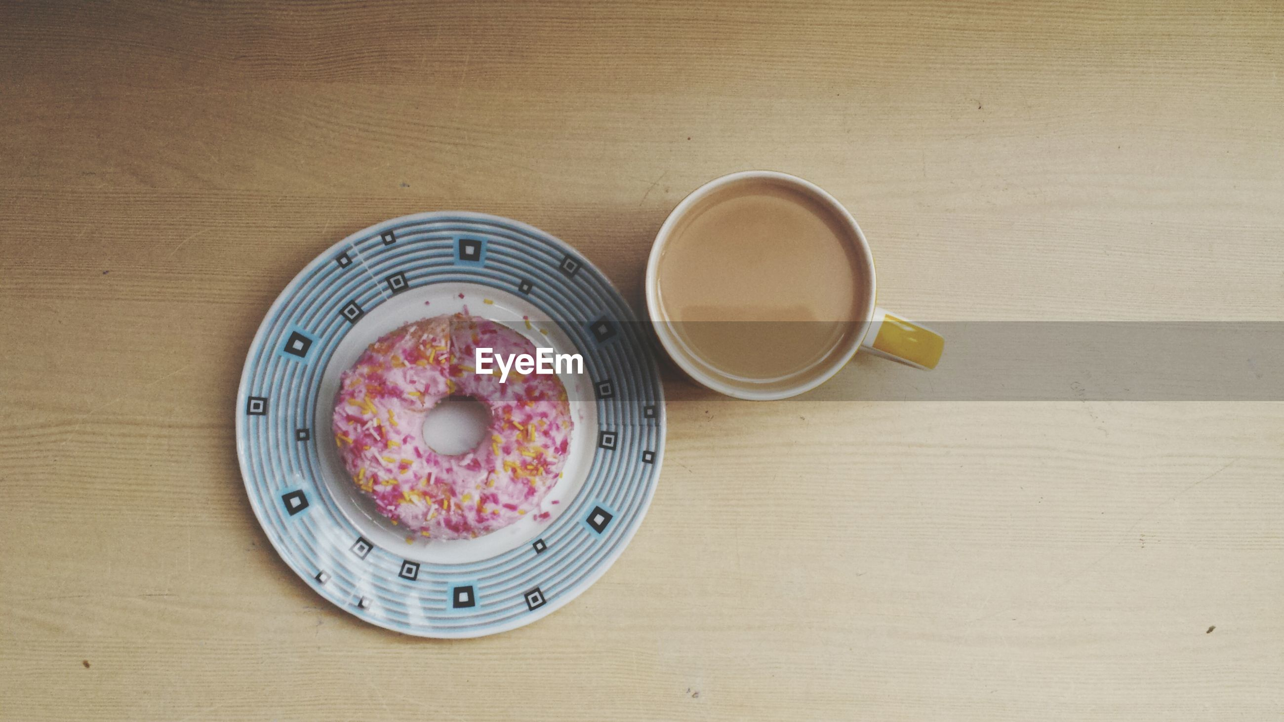 food and drink, table, indoors, freshness, food, still life, directly above, plate, high angle view, ready-to-eat, healthy eating, bowl, drink, refreshment, wood - material, spoon, serving size, breakfast, indulgence, overhead view