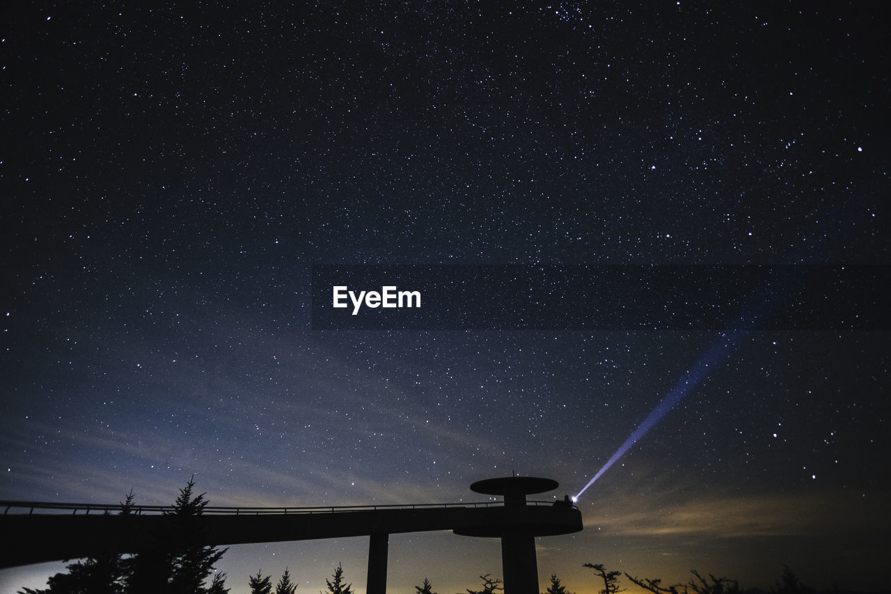 LOW ANGLE VIEW OF SILHOUETTE STARS IN SKY AT NIGHT