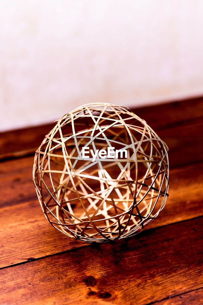Spherical Decoration On Wooden Table