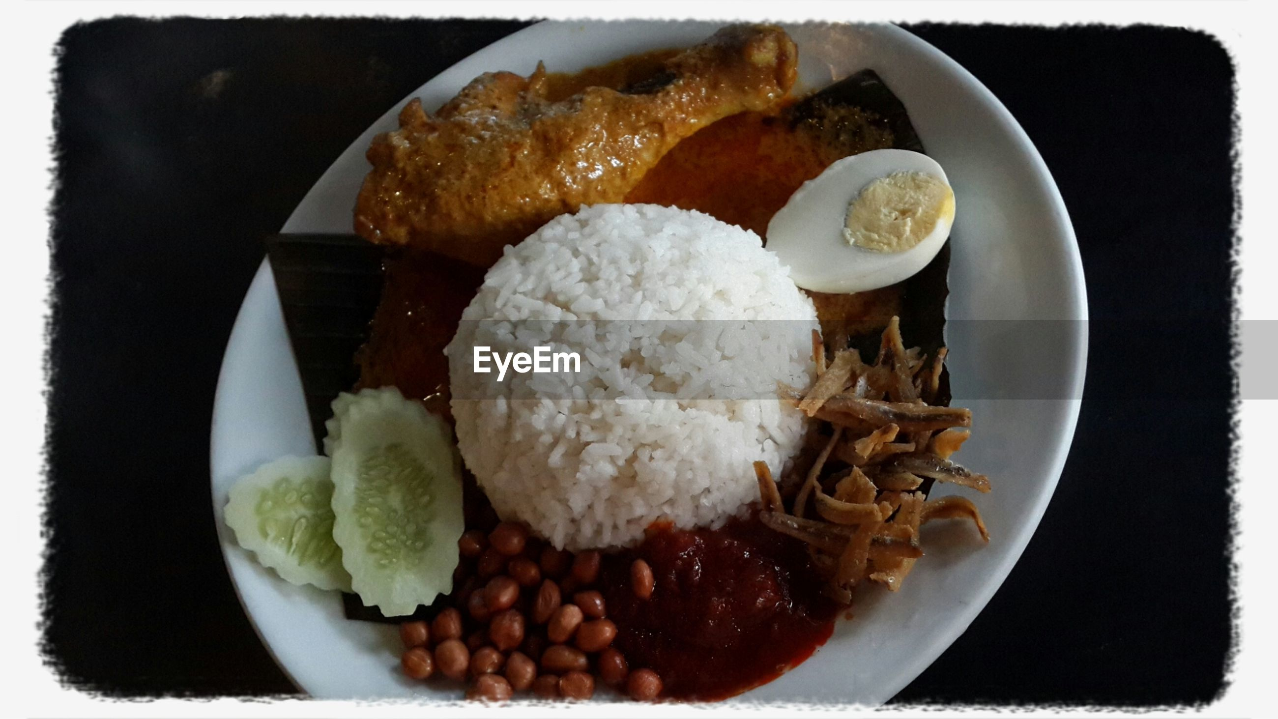 food and drink, food, freshness, ready-to-eat, plate, indoors, still life, healthy eating, meal, serving size, indulgence, transfer print, close-up, high angle view, table, served, breakfast, bowl, meat, auto post production filter
