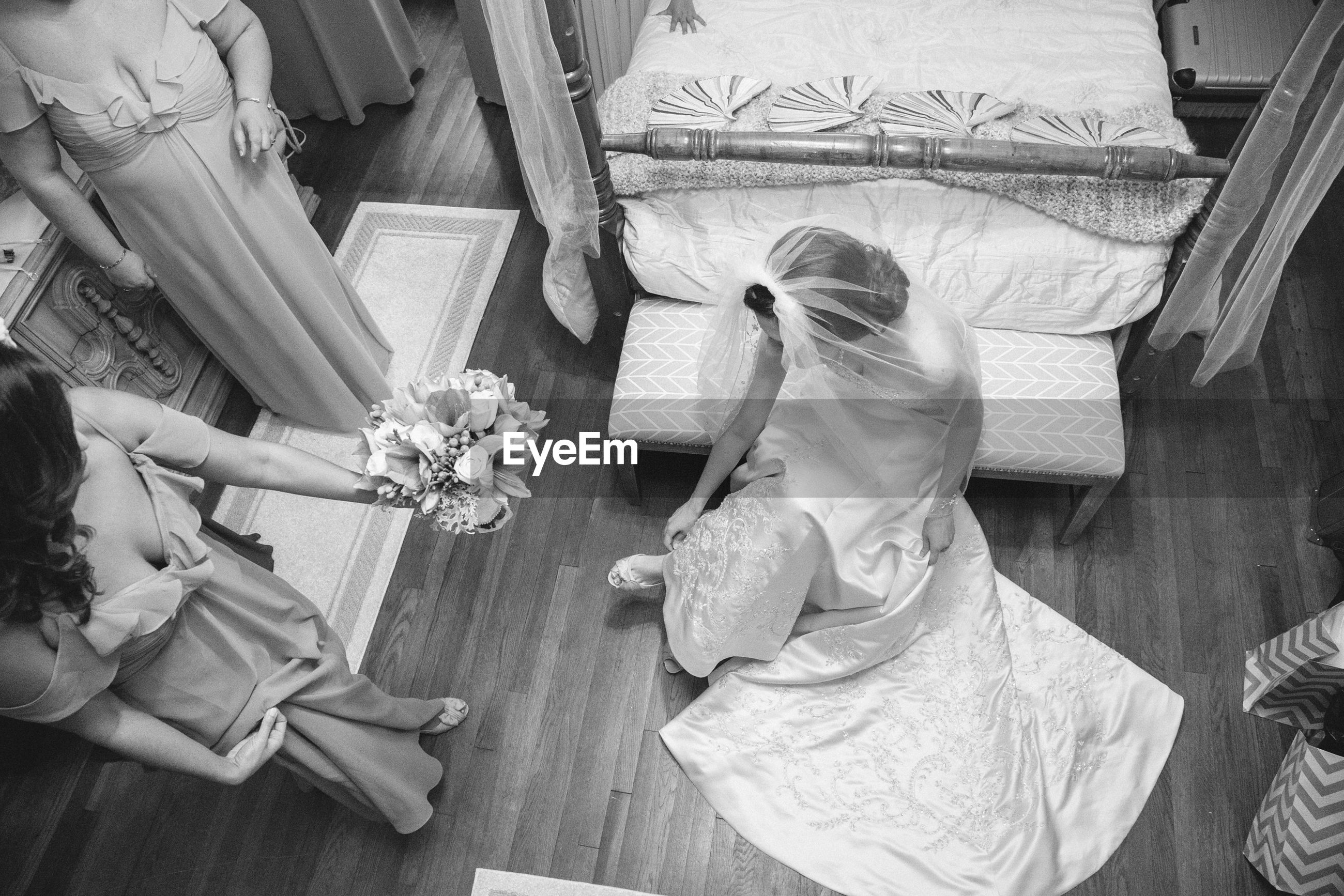 bride, life events, wedding, wedding ceremony, wedding dress, real people, outdoors, close-up, men, bridegroom, day, human body part, people