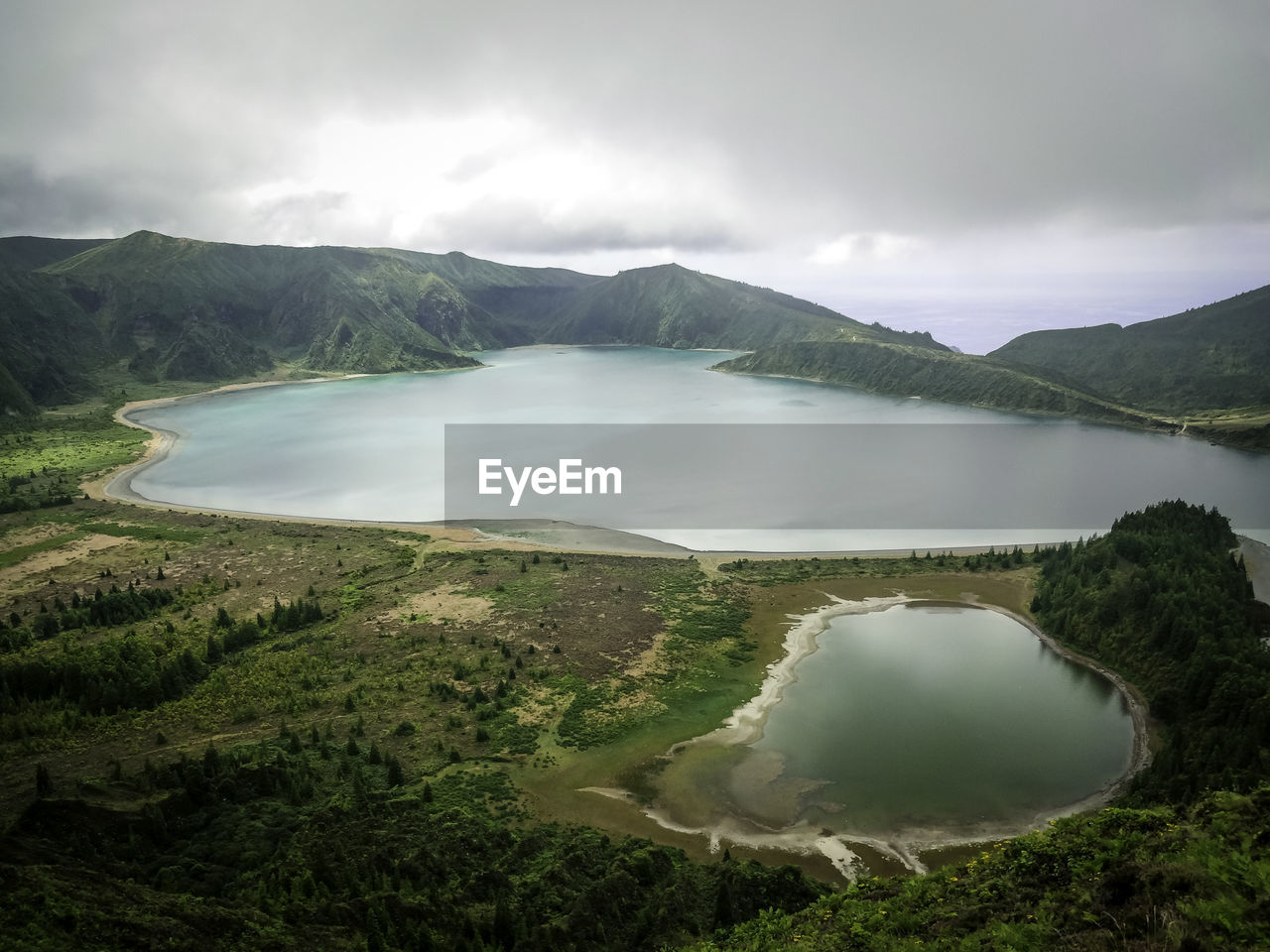 scenics - nature, water, cloud - sky, beauty in nature, sky, tranquil scene, tranquility, mountain, environment, nature, non-urban scene, lake, no people, idyllic, landscape, day, land, mountain range, outdoors, volcanic crater, lagoon