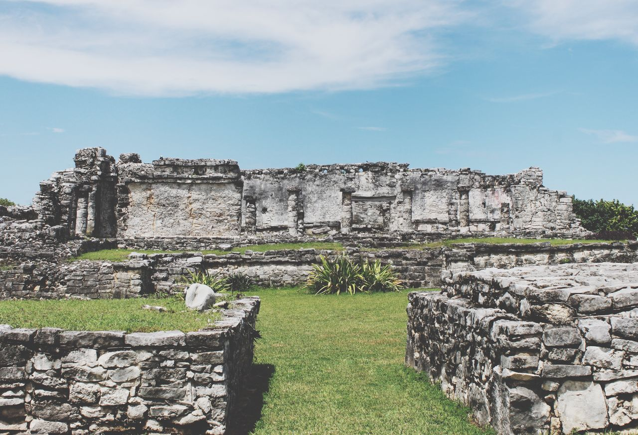 history, the past, ancient, architecture, old ruin, sky, built structure, travel destinations, tourism, nature, travel, cloud - sky, ancient civilization, day, old, grass, archaeology, building exterior, ruined, wall, no people, outdoors, stone wall