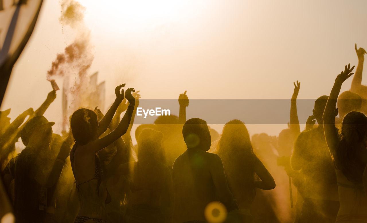 People Enjoying Beach Party