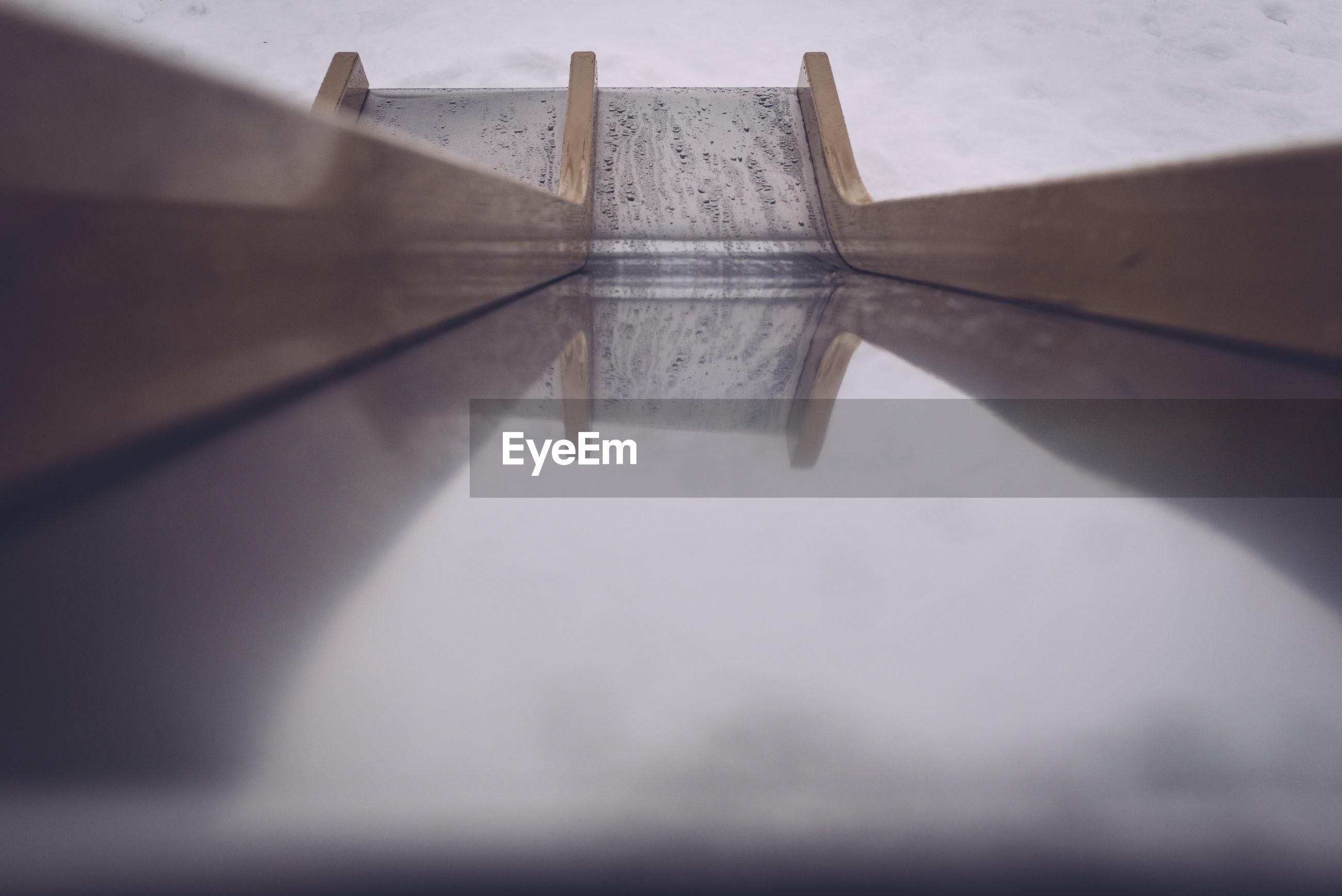 Close up of slide