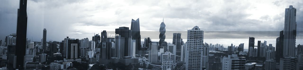 Panoramic Shot Of Cityscape Against Sky