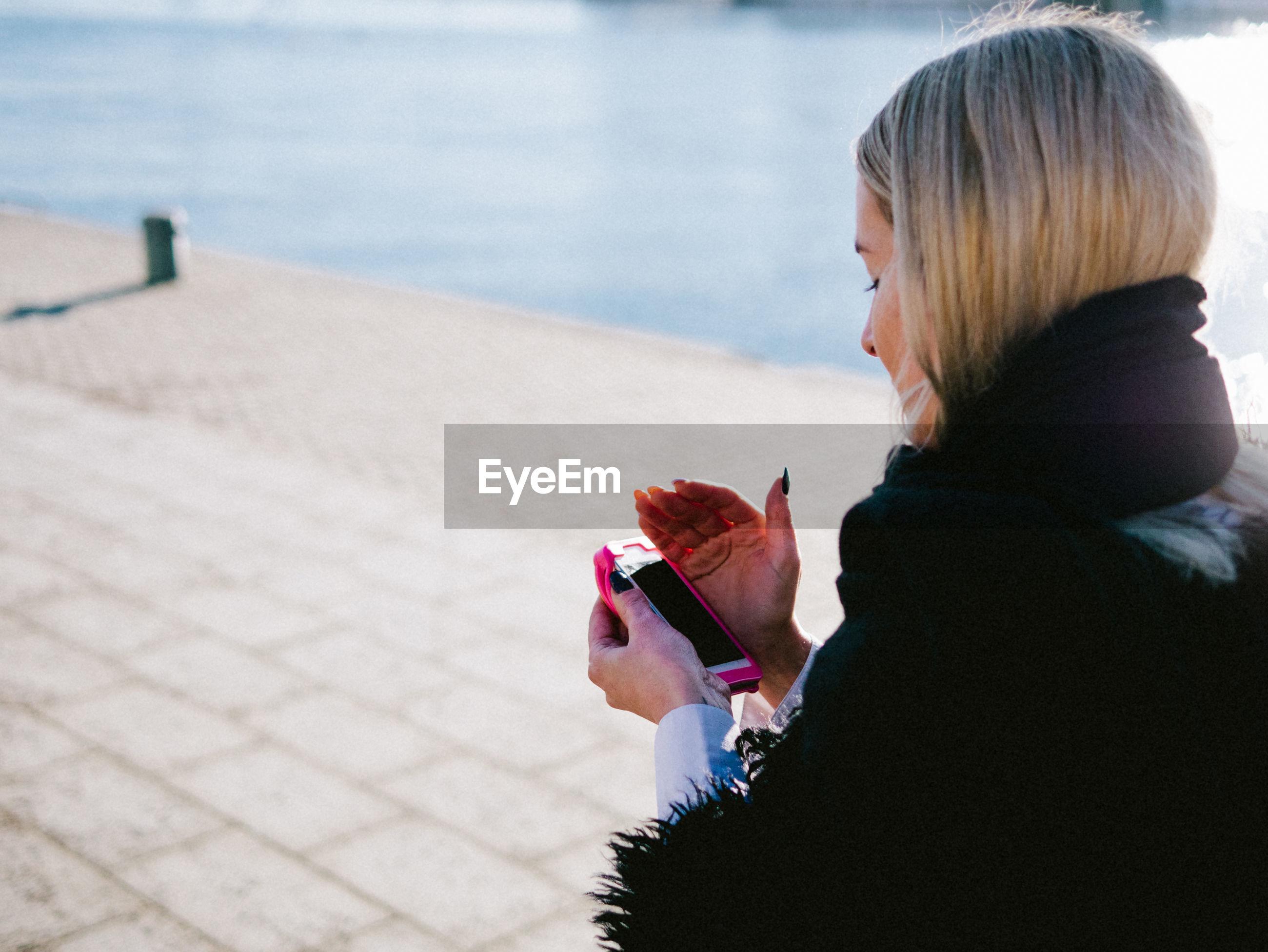 Woman on promenade