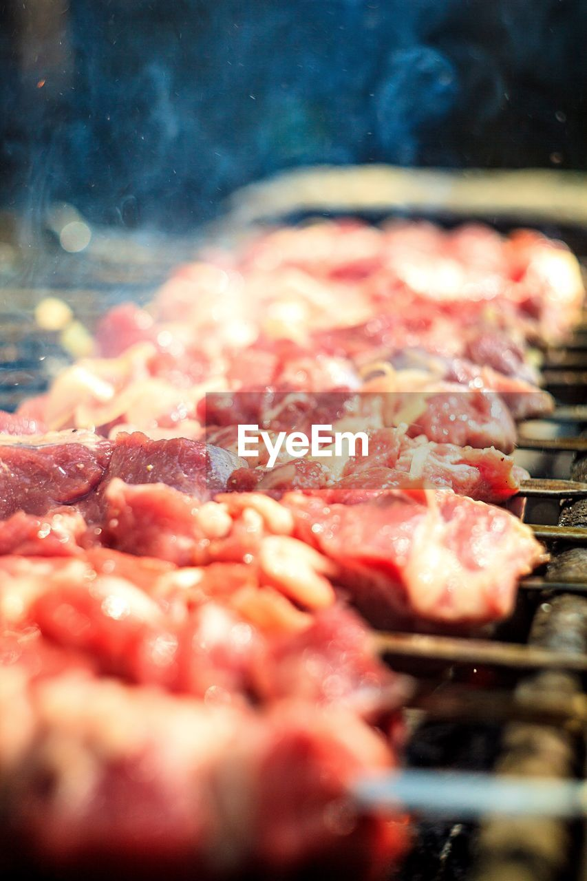 Meat grilled on barbecue