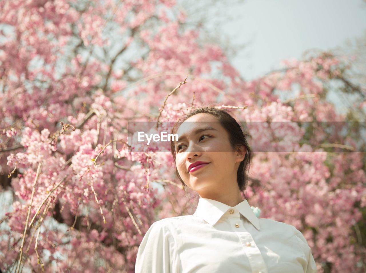 Portrait Of Young Woman In Springtime
