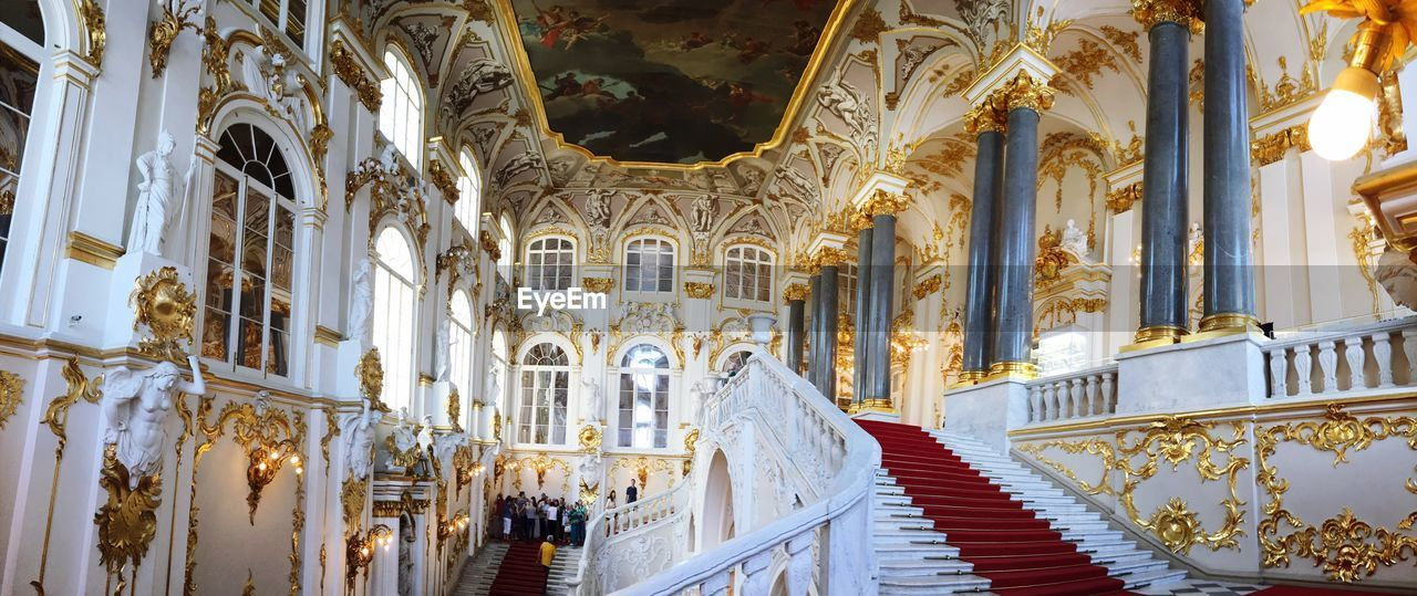 architecture, built structure, building, building exterior, the way forward, staircase, no people, direction, railing, steps and staircases, day, the past, history, religion, belief, architectural column, spirituality, place of worship, lighting equipment, outdoors, ornate, luxury, ceiling