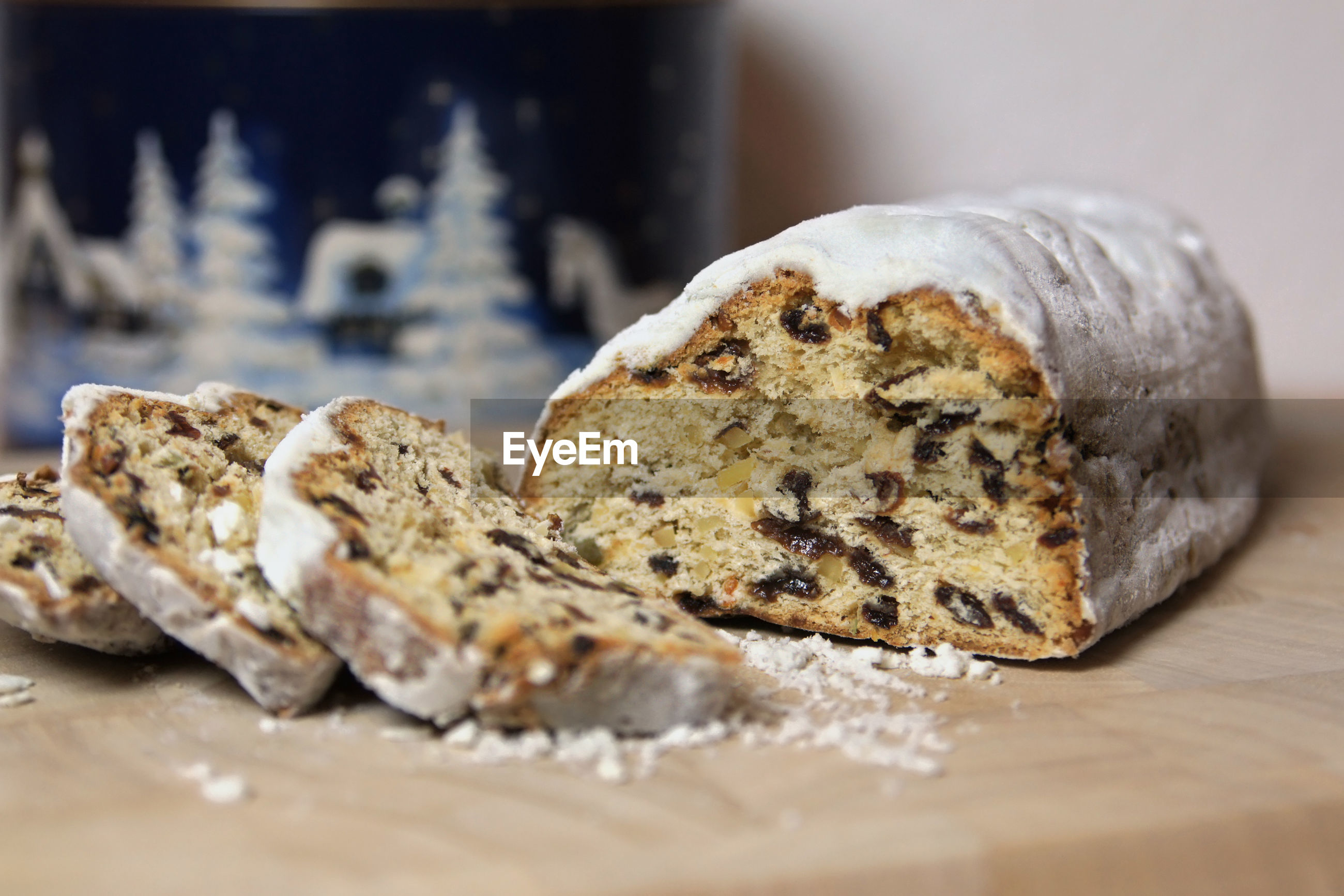 CLOSE-UP OF OBJECT ON TABLE