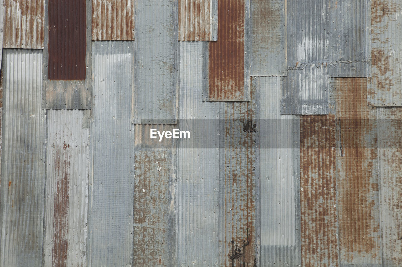 Full Frame Shot Of Rusted Corrugated Metal