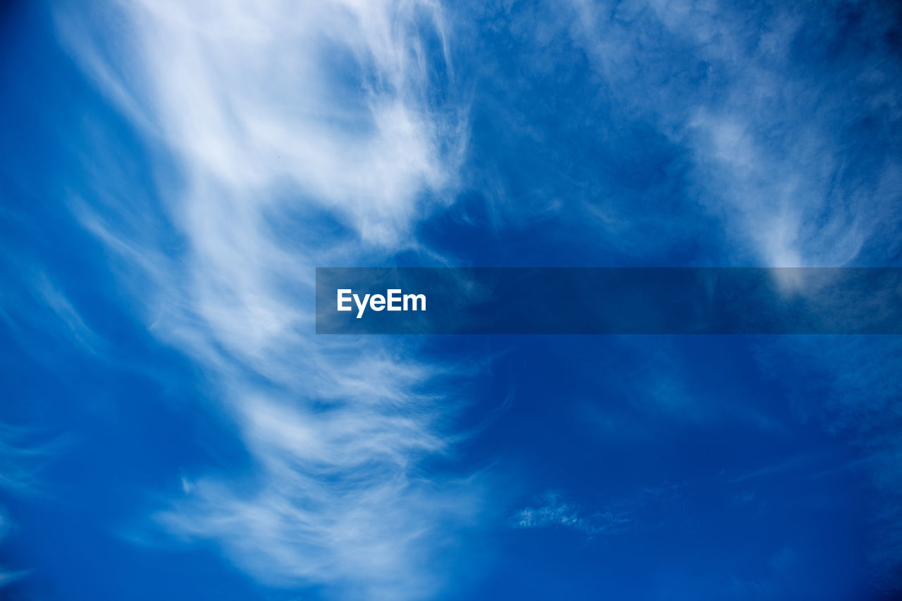 blue, sky, cloud - sky, backgrounds, beauty in nature, low angle view, nature, sky only, full frame, scenics, no people, tranquility, day, outdoors