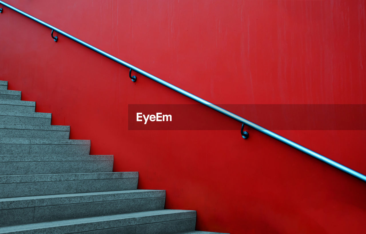 Steps By Red Wall