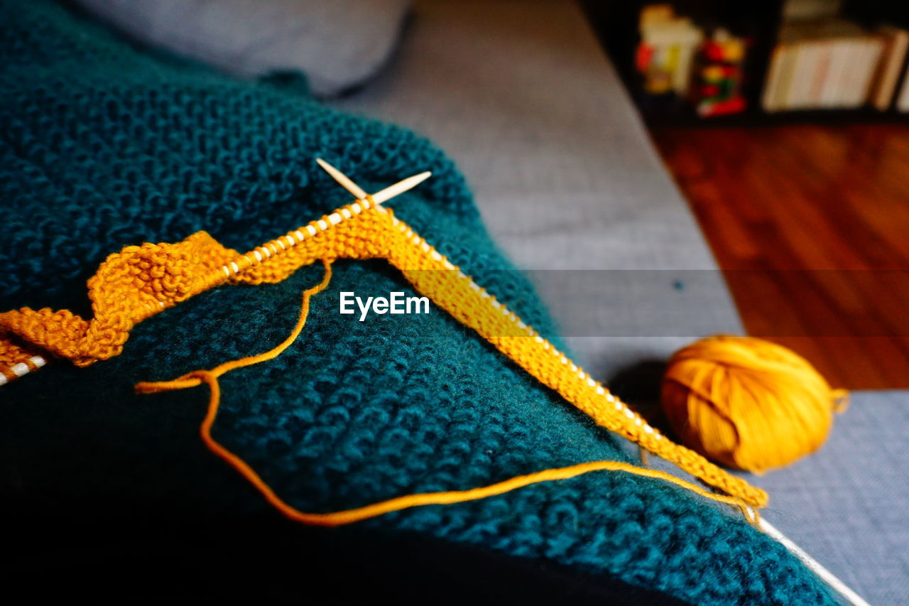 Close-up of crochet