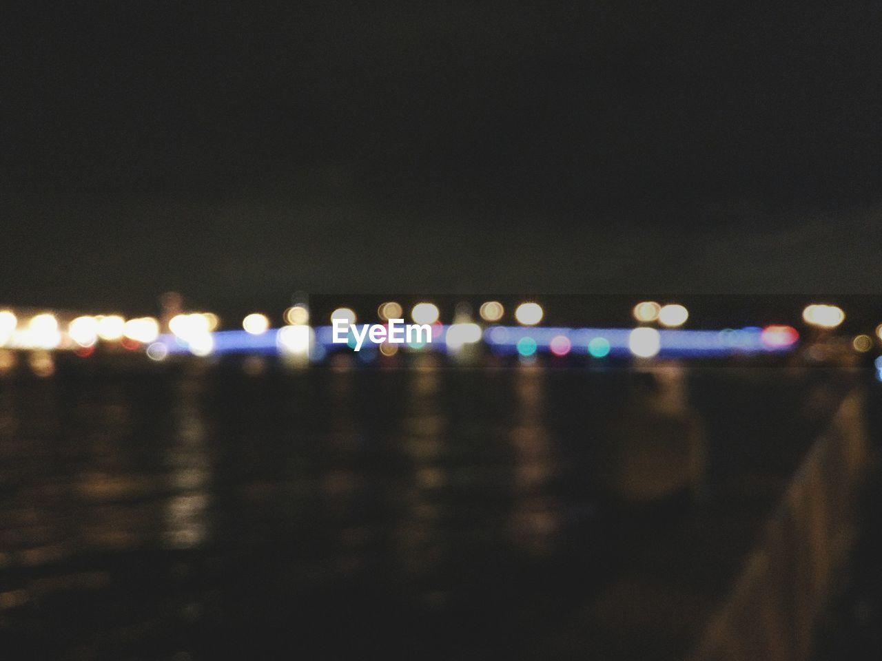 illuminated, night, no people, defocused, outdoors, nature, sky, close-up