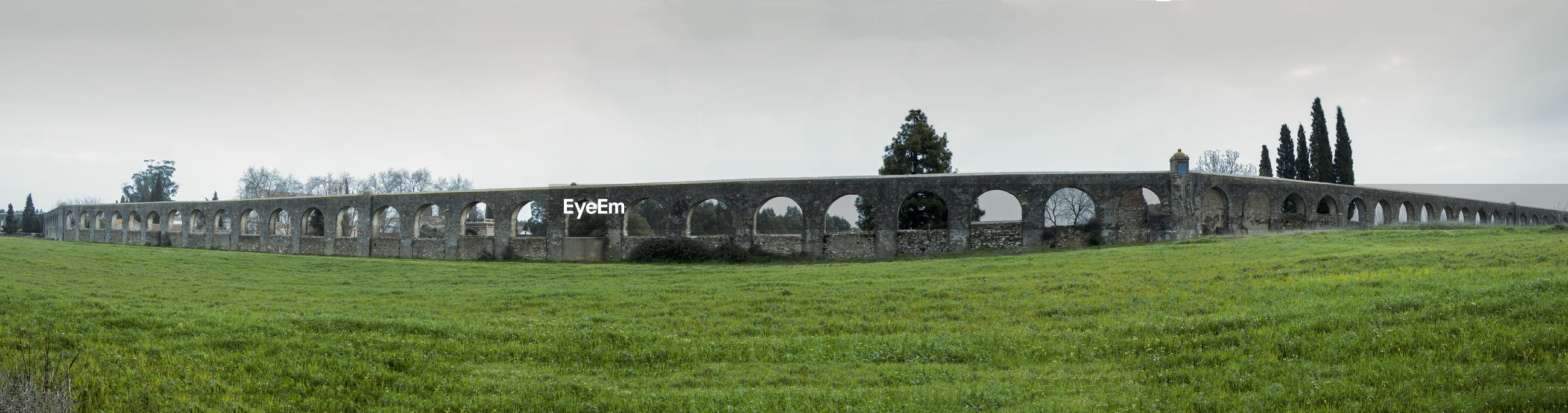 Panoramic view of built structure against sky