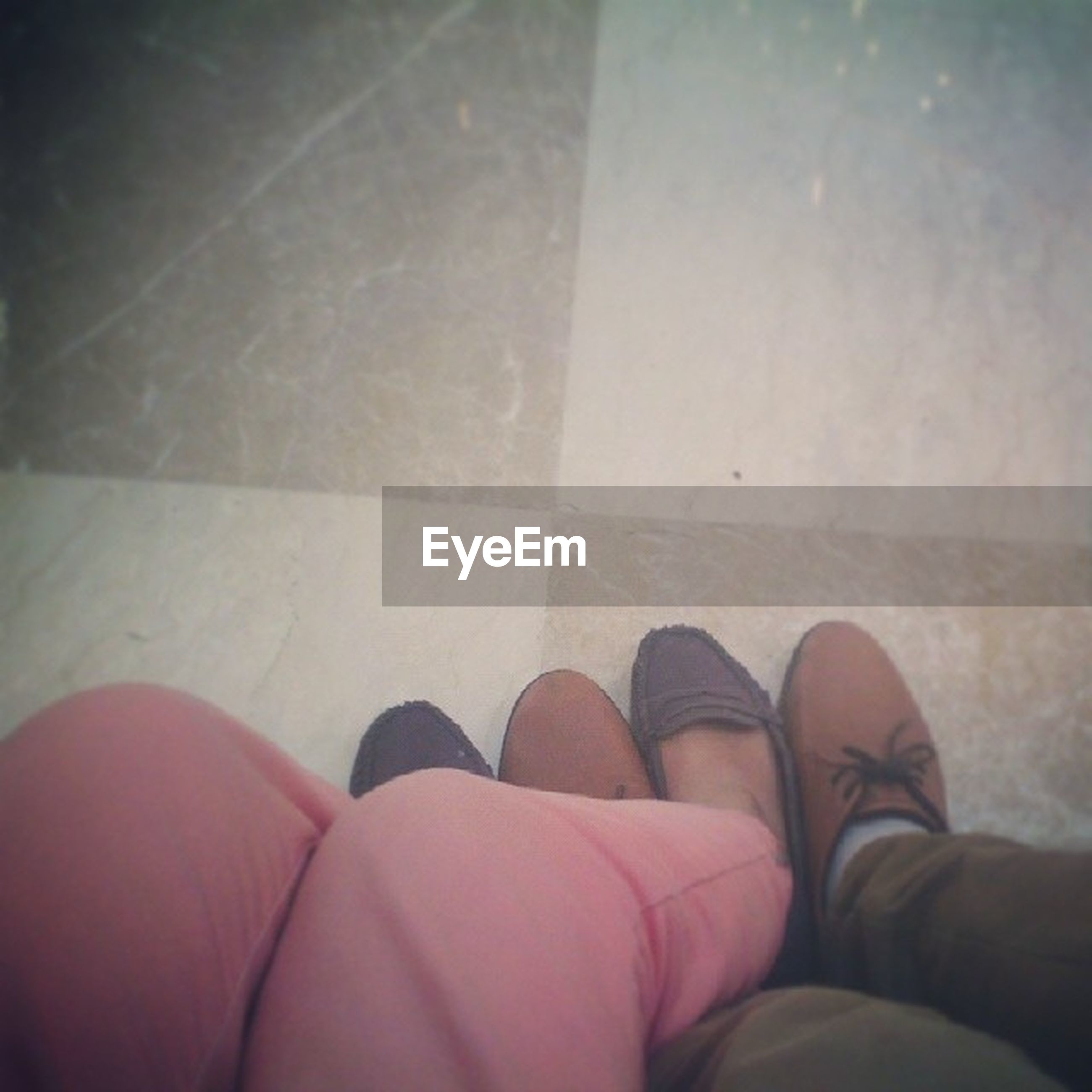 low section, person, personal perspective, shoe, human foot, indoors, lifestyles, high angle view, footwear, part of, standing, flooring, tiled floor, unrecognizable person, men, leisure activity