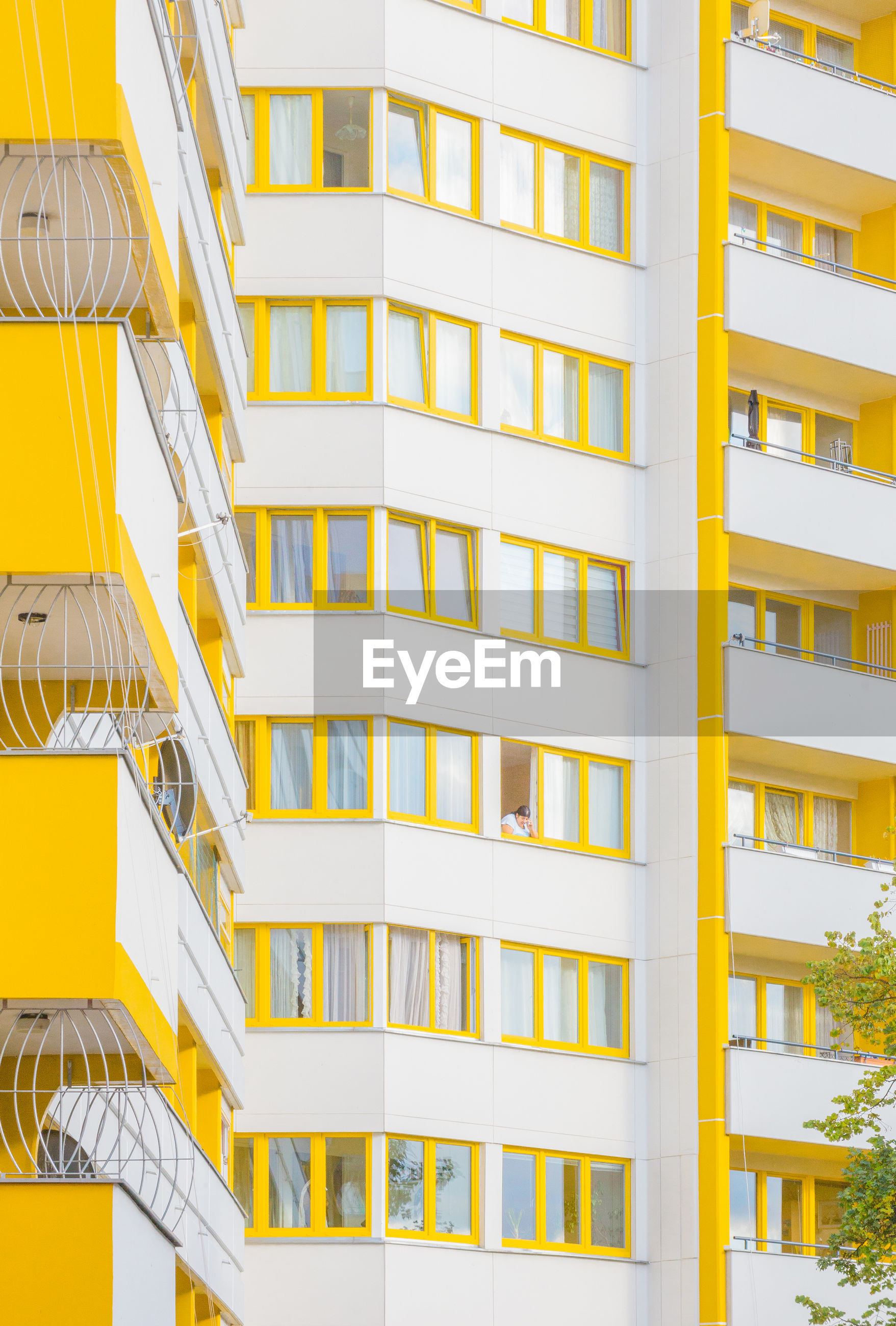 architecture, building exterior, built structure, city, window, yellow, no people, modern, full frame, outdoors, apartment, residential, day, cityscape