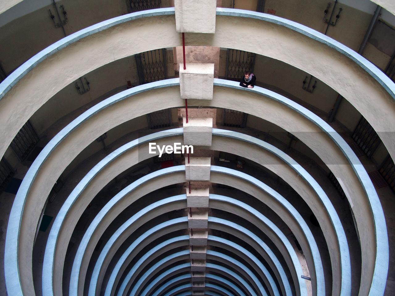 Full frame shot of spiral ceiling