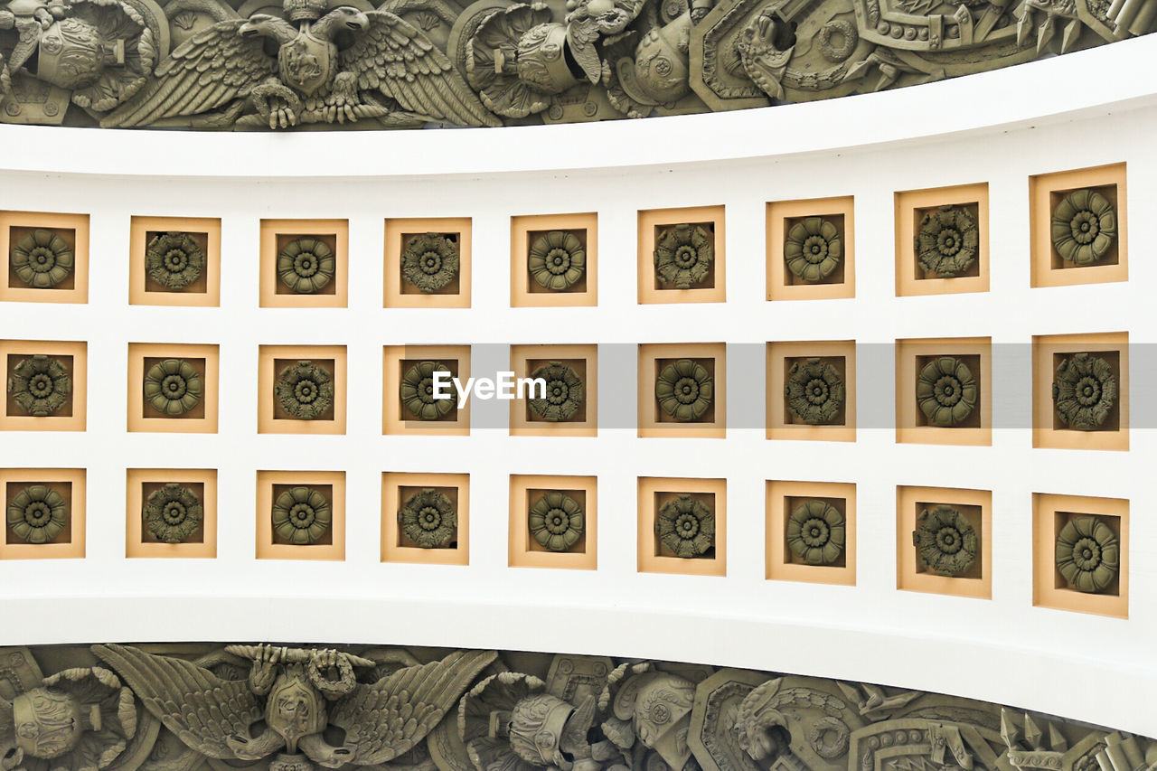Full frame shot of narva triumphal arch ceiling