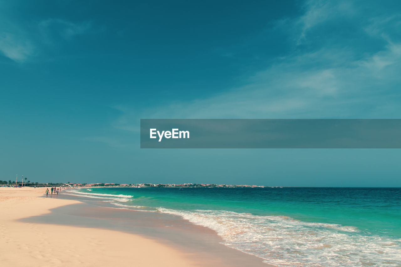 sea, water, sky, beach, scenics - nature, beauty in nature, land, sand, cloud - sky, nature, horizon over water, tranquility, horizon, tranquil scene, blue, idyllic, day, no people, outdoors, turquoise colored