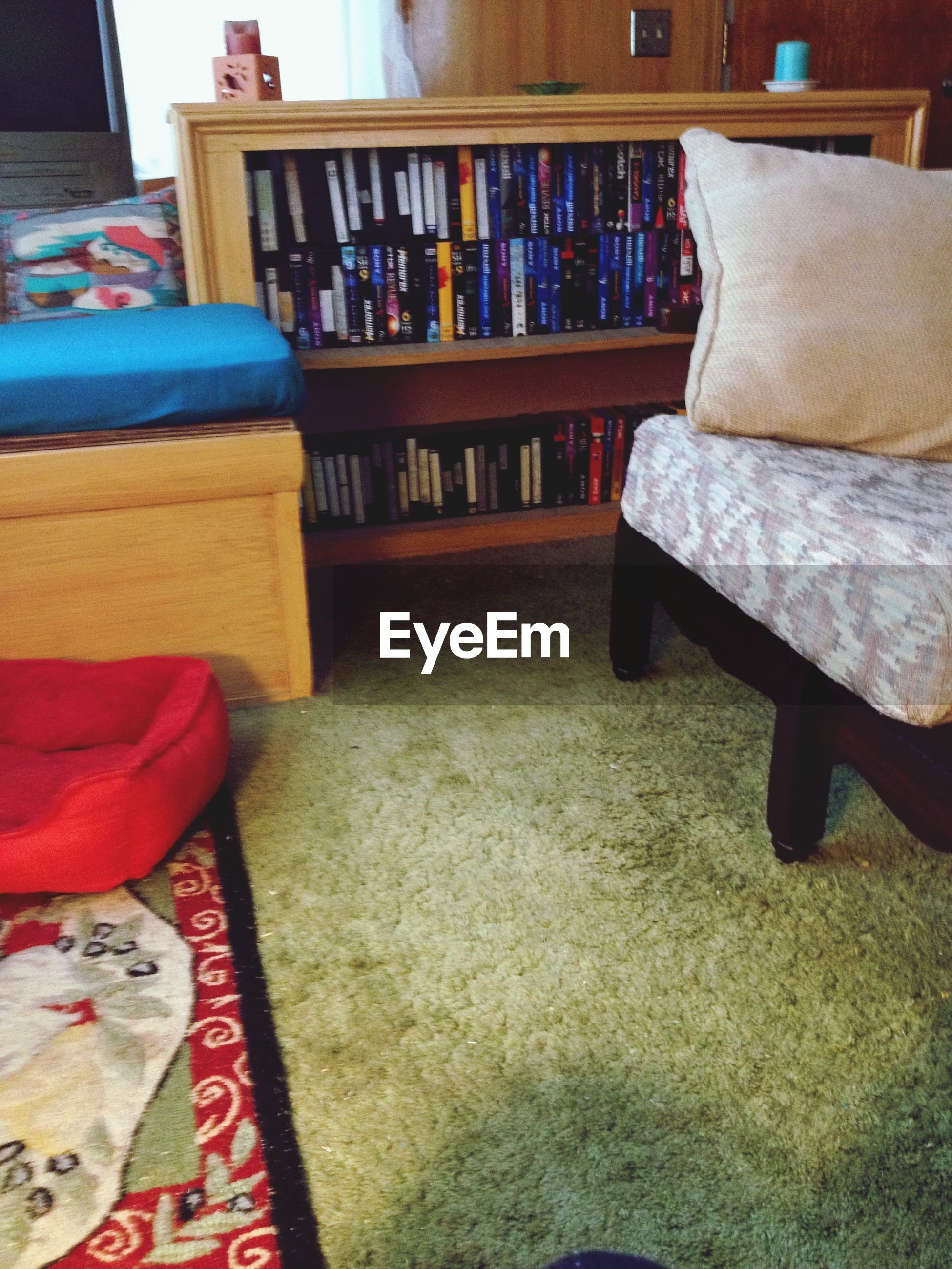 indoors, relaxation, bed, chair, absence, cushion, empty, sofa, table, resting, furniture, book, pillow, home interior, high angle view, blanket, variation, no people, seat, fabric