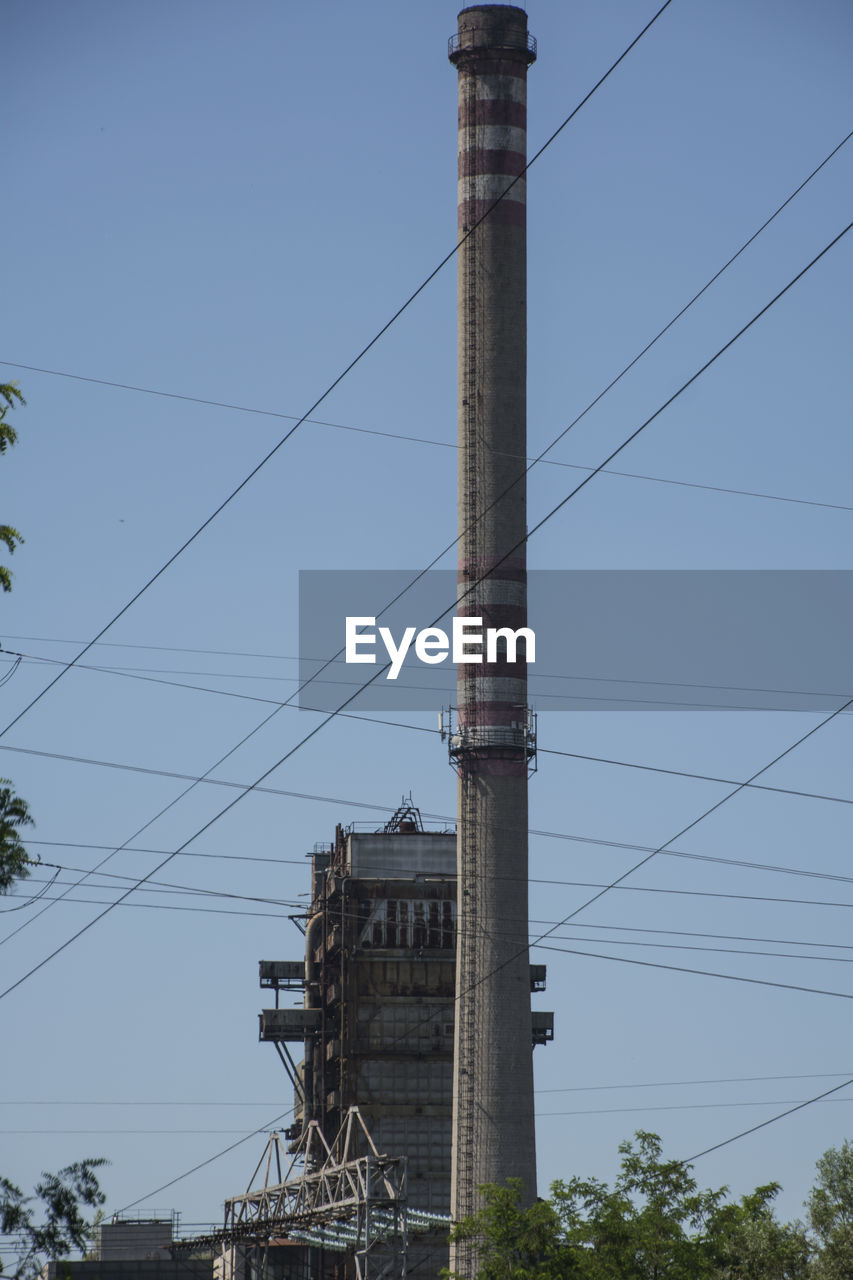 cable, connection, fuel and power generation, no people, tree, sky, outdoors, electricity pylon, day, architecture