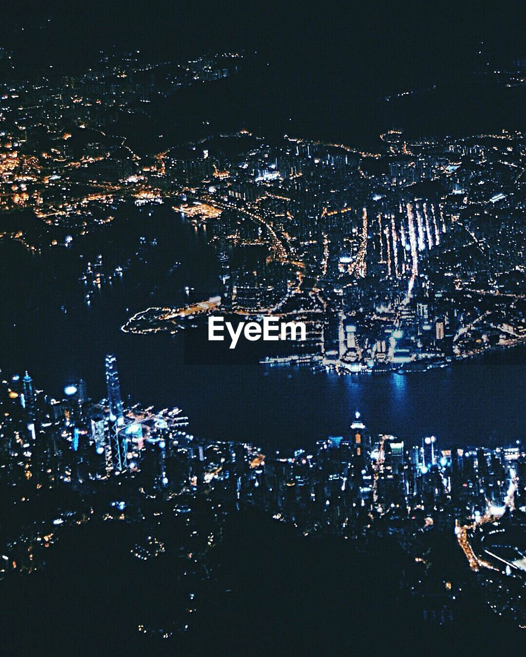 night, cityscape, city, illuminated, building exterior, aerial view, architecture, crowded, outdoors, built structure, sea, water, sky, nature
