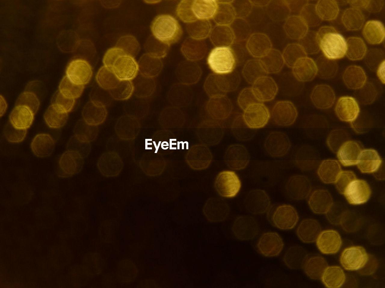 defocused, pattern, night, backgrounds, full frame, illuminated, no people, close-up, indoors, black background
