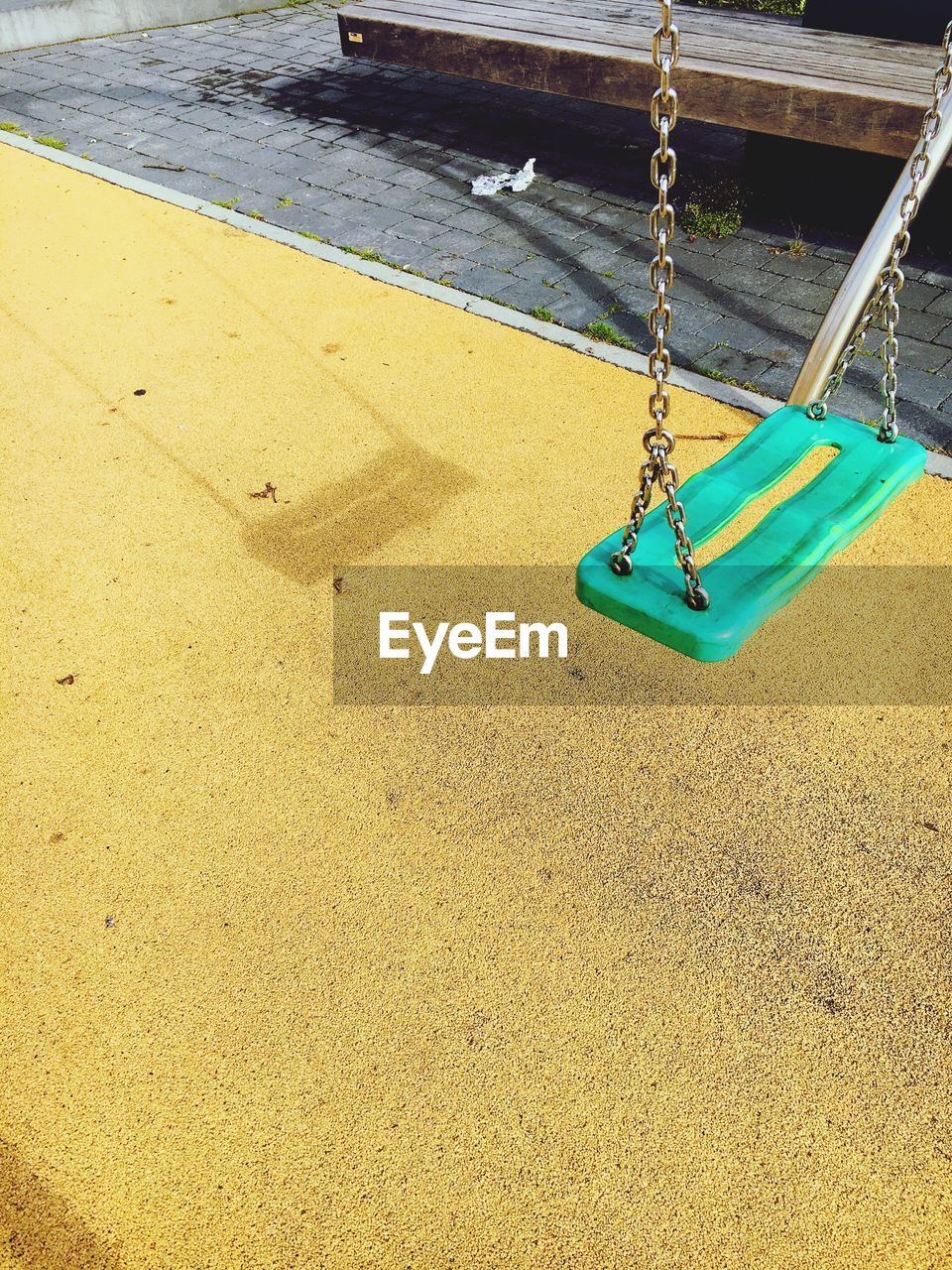sand, no people, high angle view, day, outdoors, yellow, water, close-up