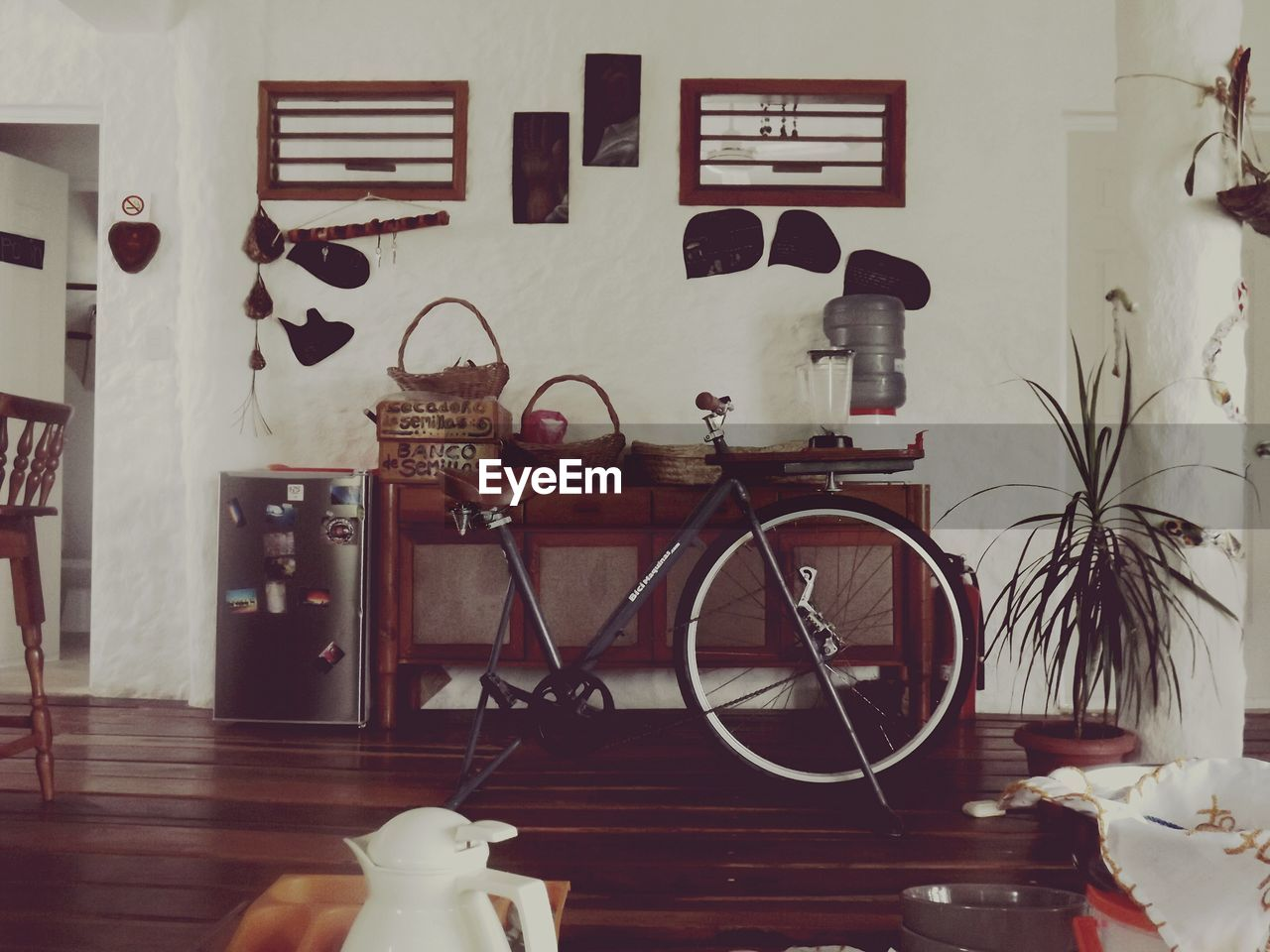 indoors, bicycle, home interior, no people, home showcase interior, living room, architecture, day