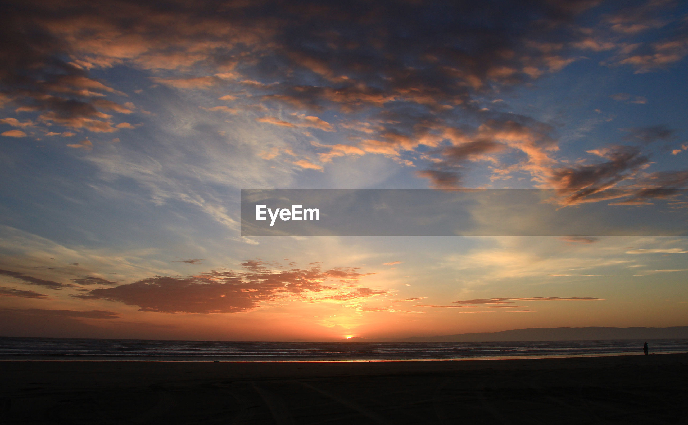 SCENIC VIEW OF SUNSET OVER BEACH