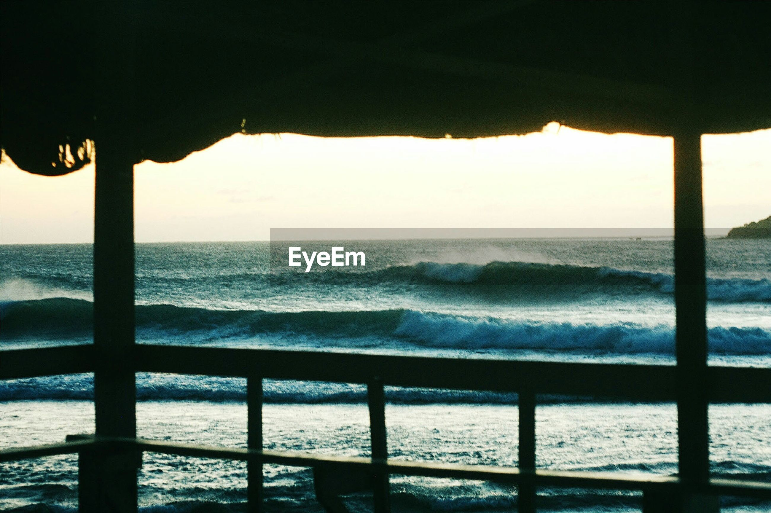 View of waves from gazebo