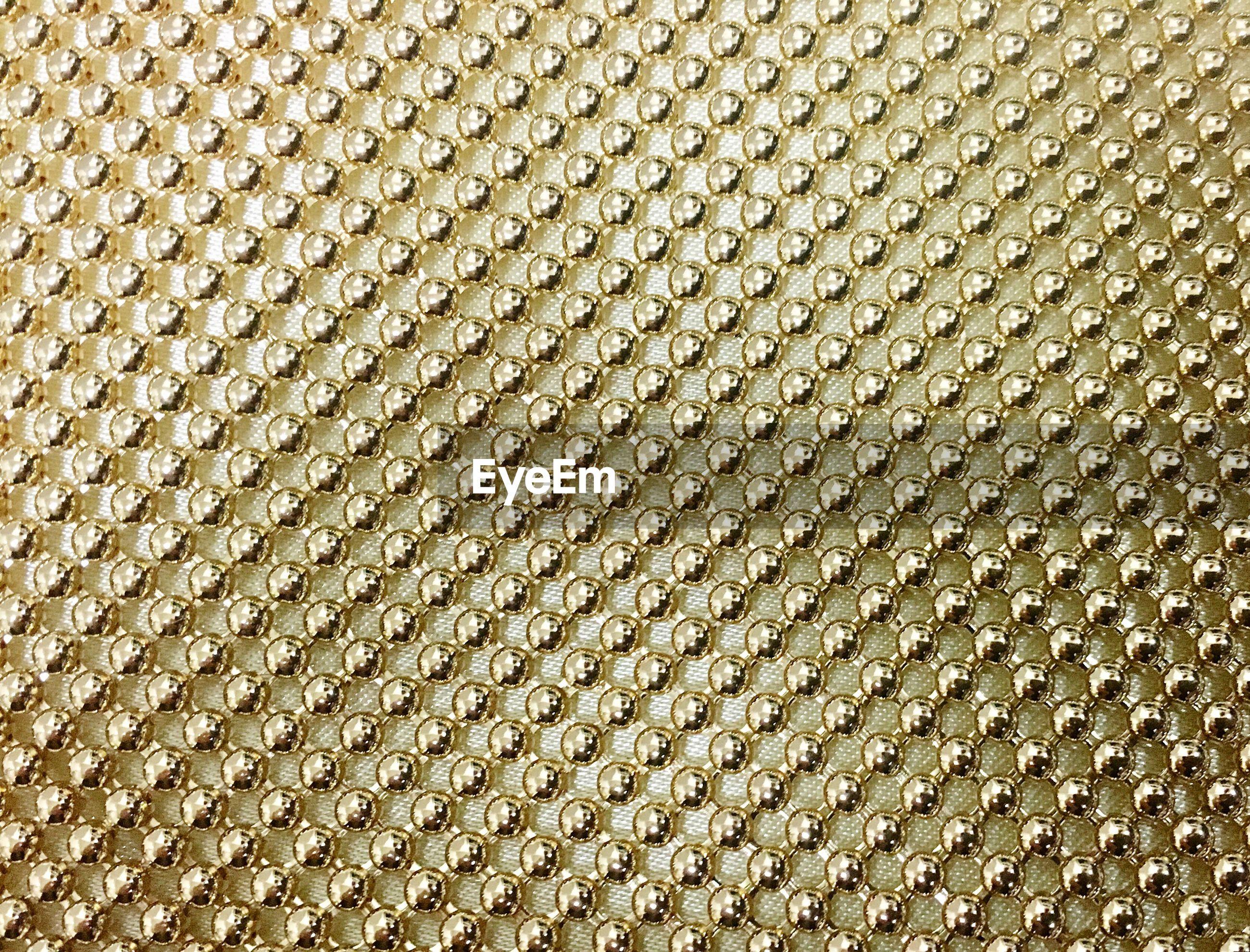 Full frame shot of gold fabric