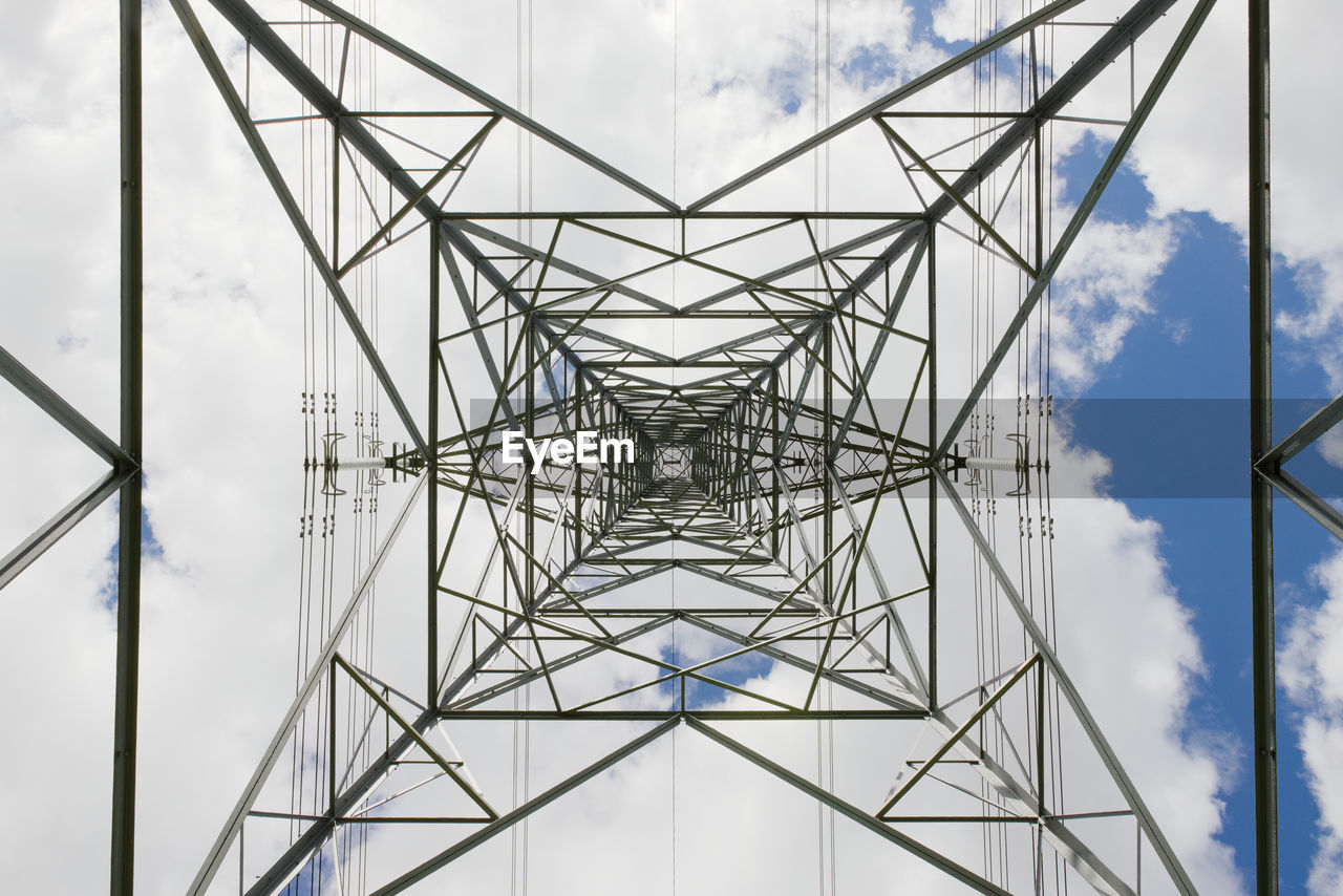 Abstract hard texture from this industrial themed image of an electrical pylon transmission tower