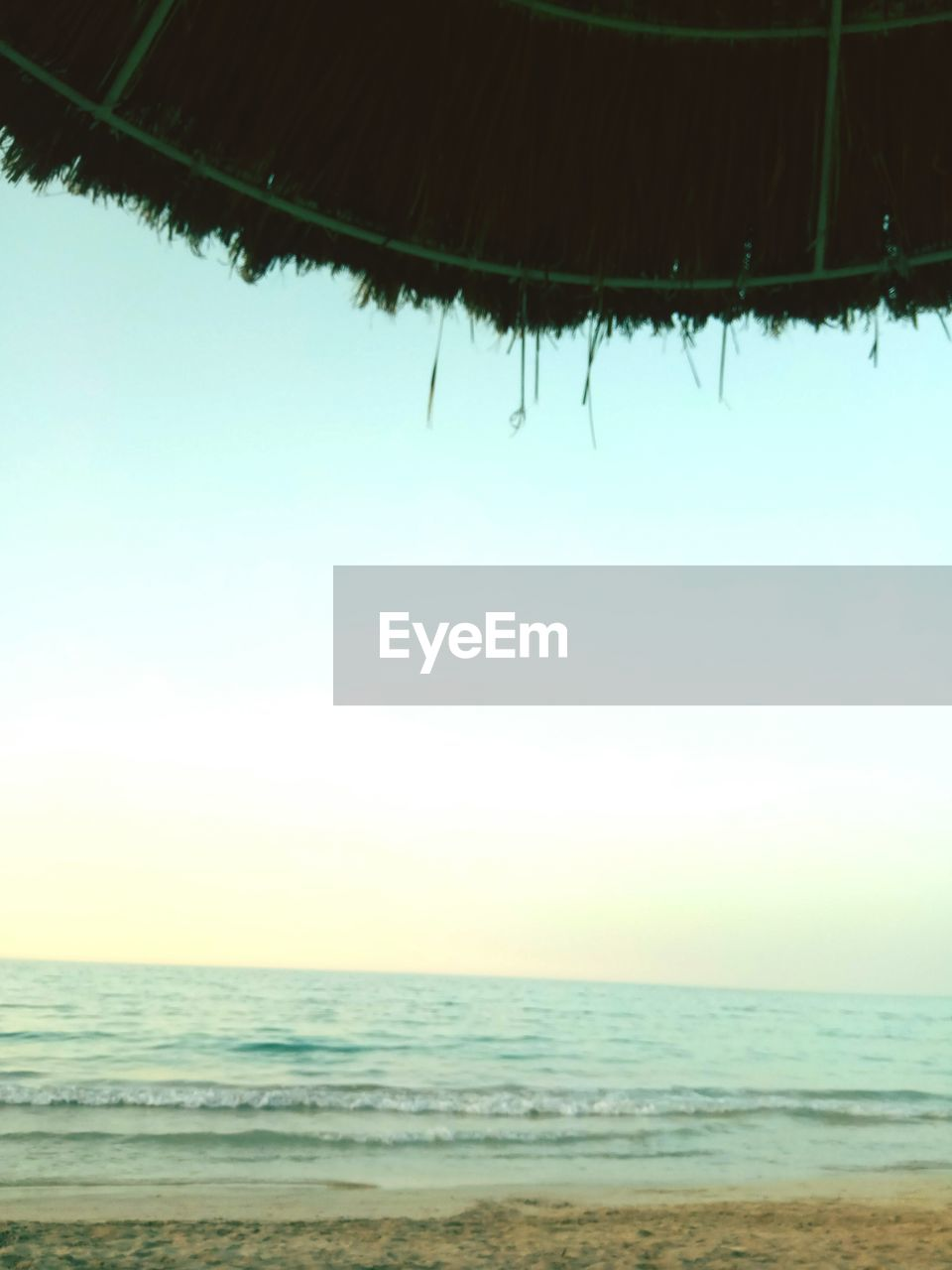 sea, sky, water, horizon, tranquility, land, scenics - nature, horizon over water, beauty in nature, beach, nature, tranquil scene, day, clear sky, no people, outdoors, idyllic, copy space, focus on foreground