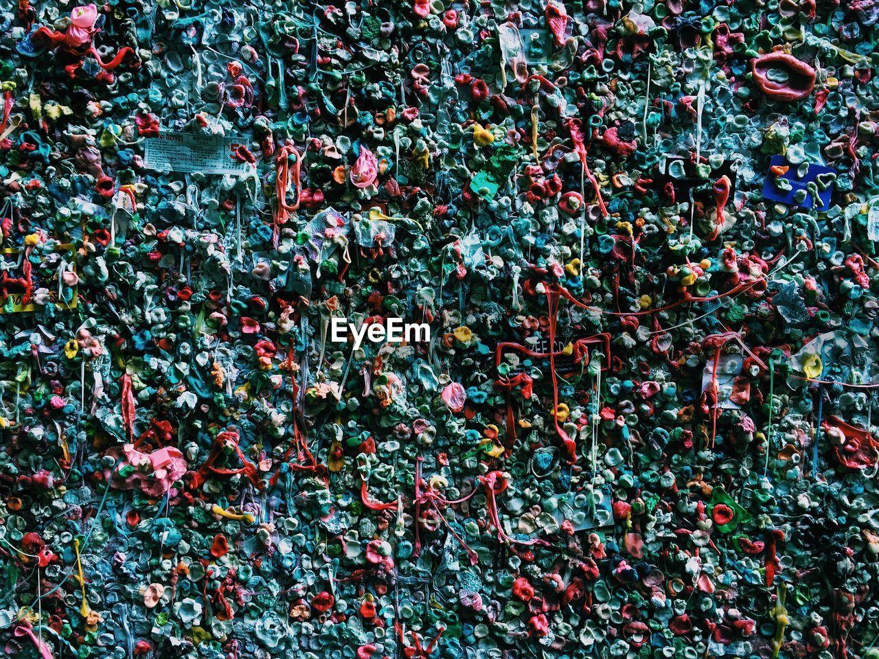 Full frame shot of gum wall