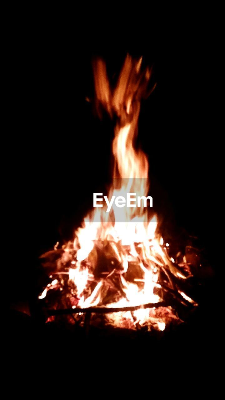 burning, flame, night, no people, heat - temperature, glowing, bonfire, outdoors, close-up, nature