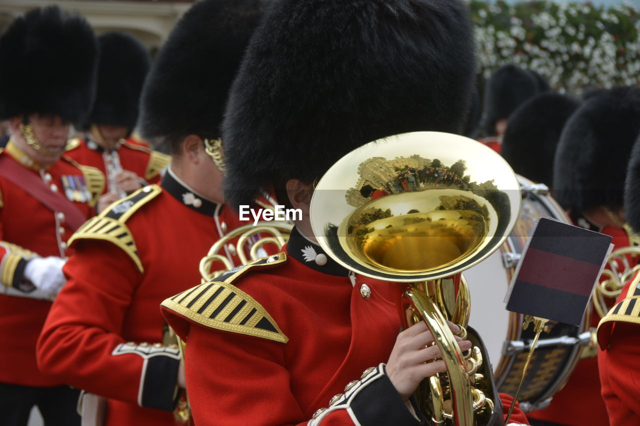 Marching Band Playing Musical Instrument