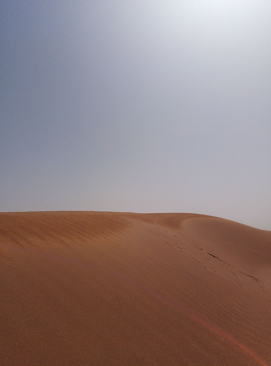 desert, landscape, scenics - nature, climate, sand dune, sand, environment, arid climate, tranquil scene, tranquility, land, sky, beauty in nature, horizon over land, non-urban scene, remote, copy space, horizon, clear sky, nature, no people, outdoors, atmospheric