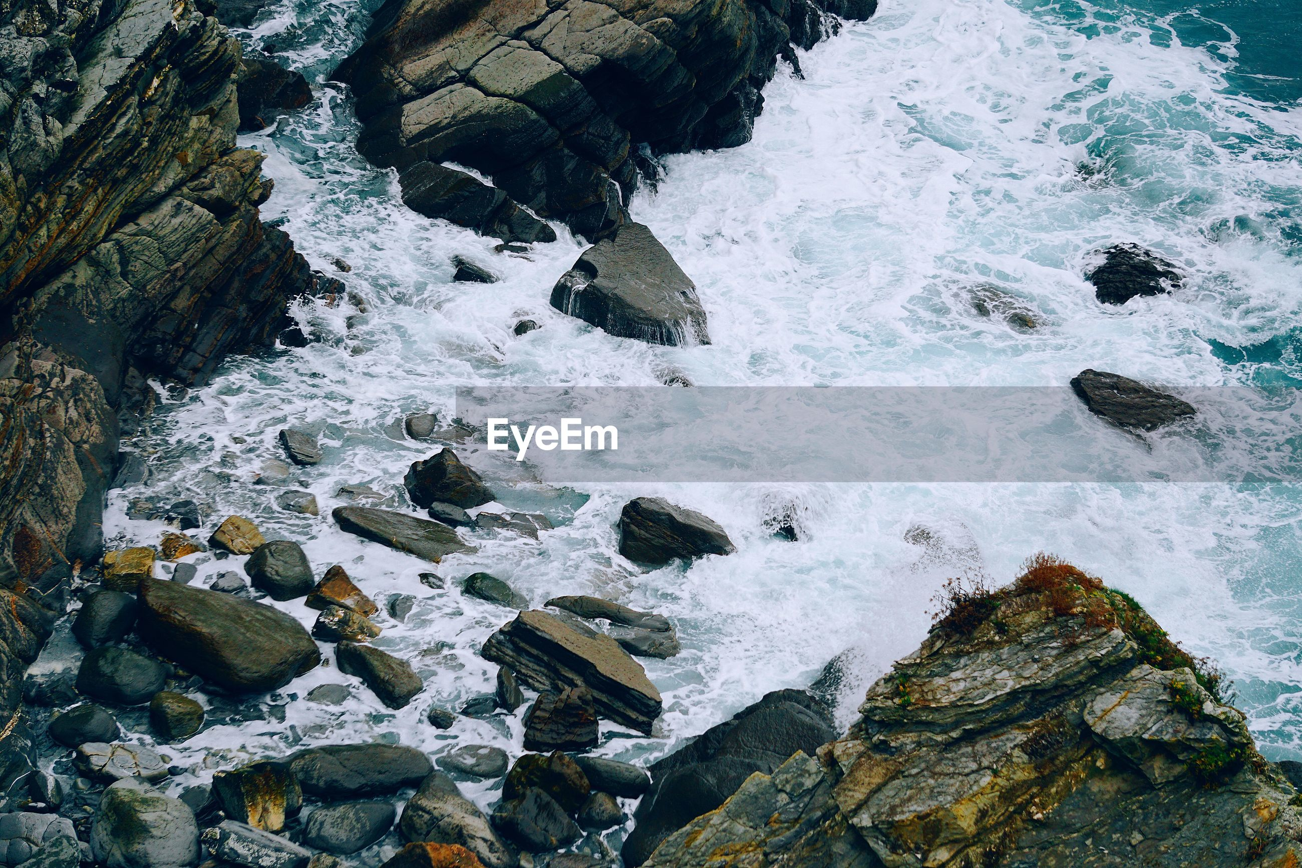 The rocks in the sea