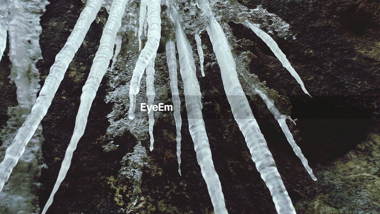 cold temperature, winter, frozen, snow, nature, no people, ice, outdoors, icicle, close-up, day, beauty in nature, tree, water