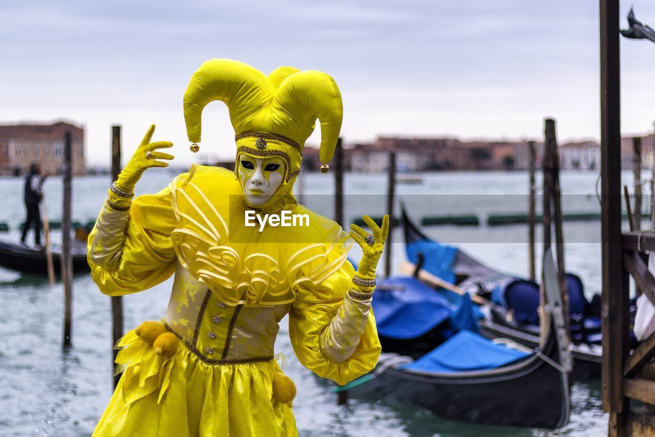 Person In Costume By Grand Canal