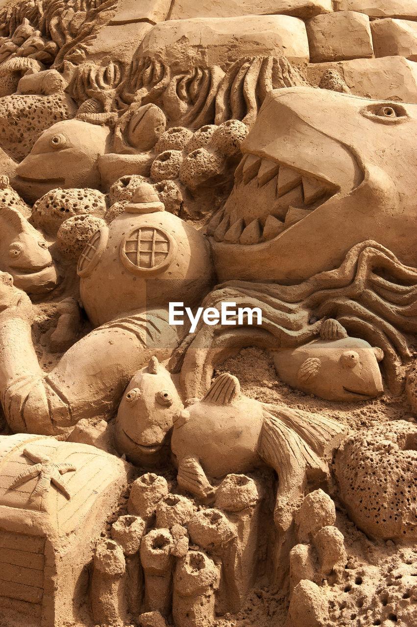 Close-Up Of Sand Sculptures