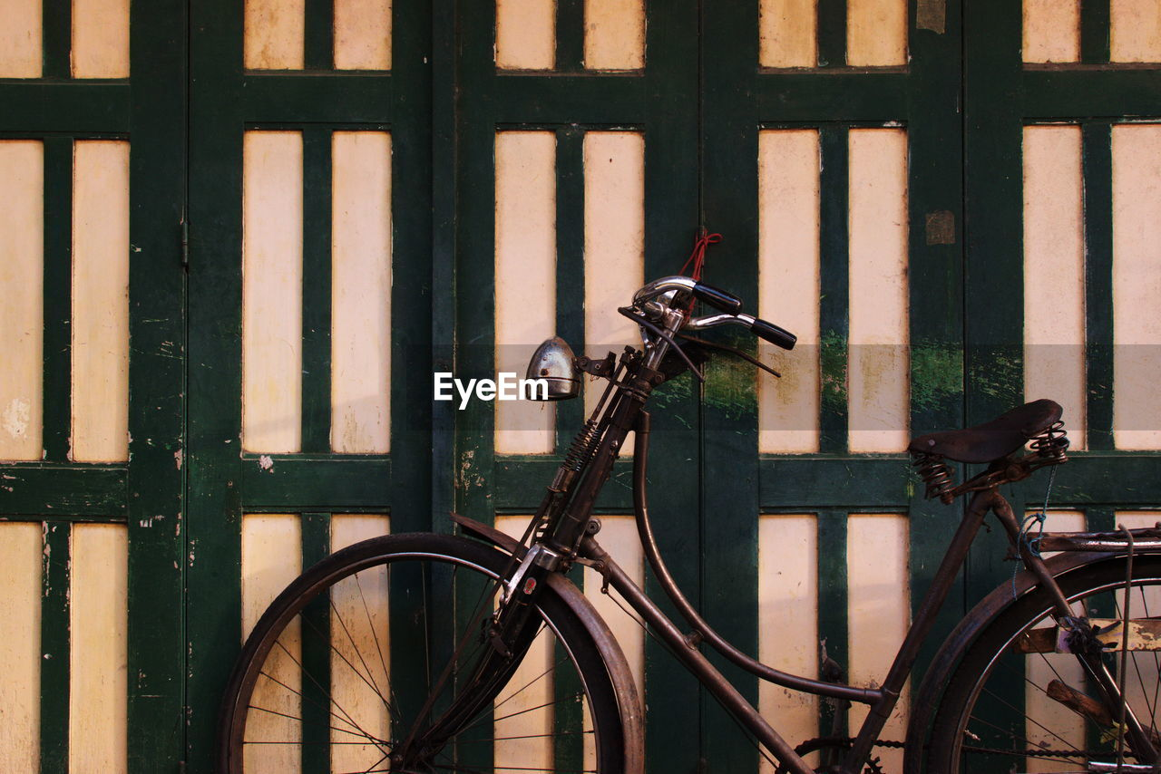 Close-Up Of Bicycle By Building