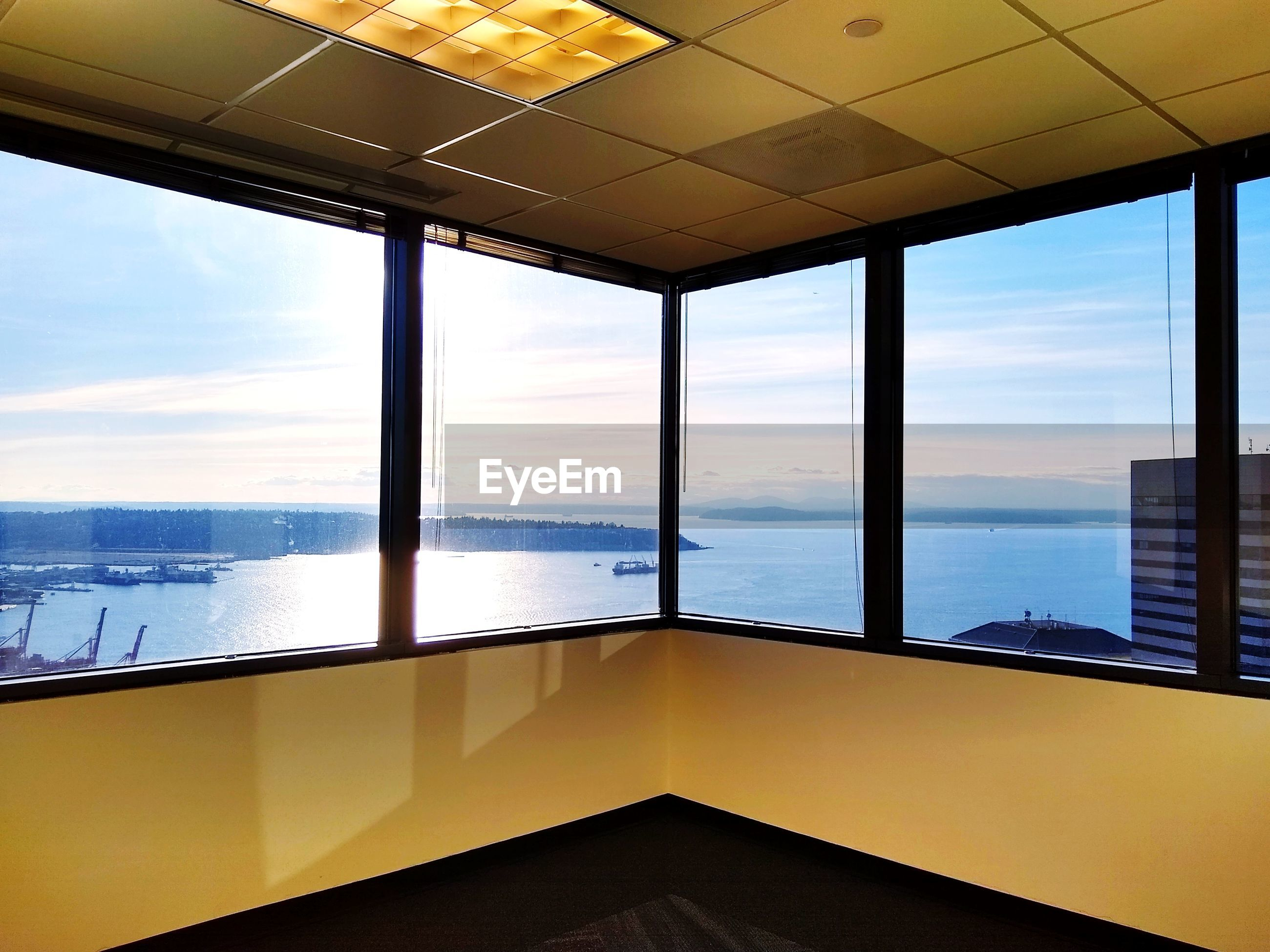 Captured. panoramic views of elliot bay from columbia center 43rd fl.