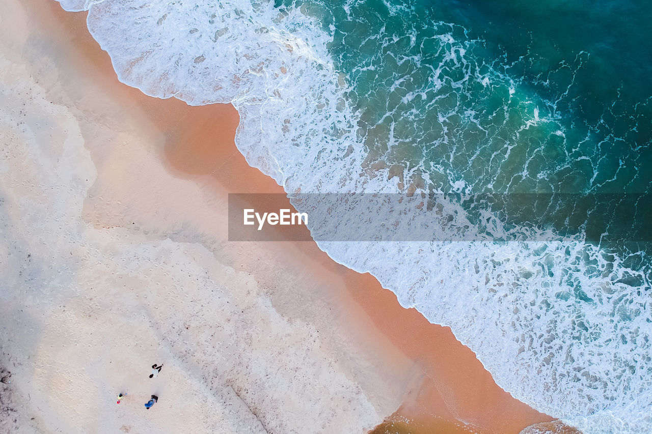 water, sea, sport, beach, land, aquatic sport, wave, motion, beauty in nature, surfing, high angle view, nature, day, scenics - nature, sand, non-urban scene, outdoors, power in nature